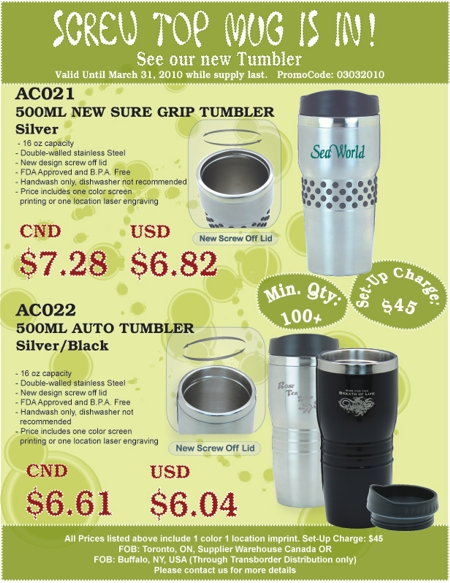 Stainless Steel Auto Tumbler Special