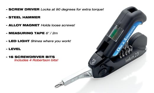 Kelvin 23 Multi-Tool Features