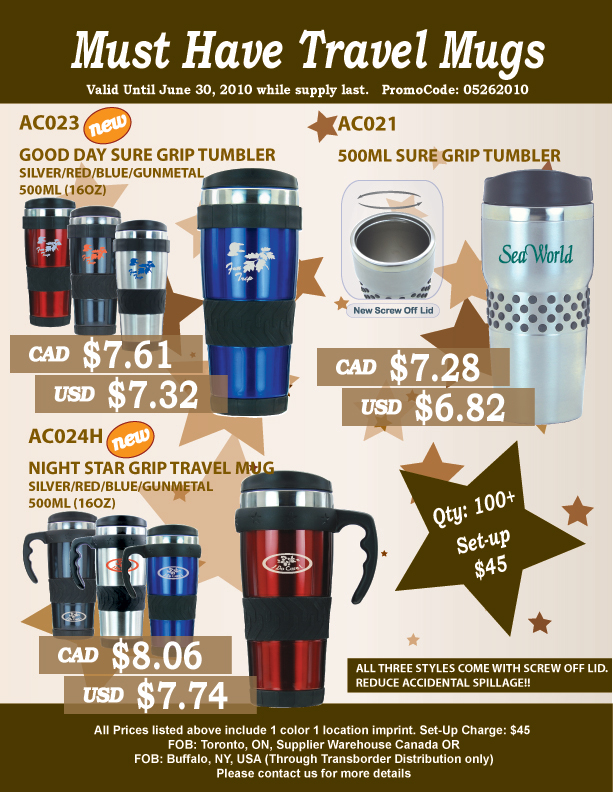 Stainless Steel Mugs and Tumblers